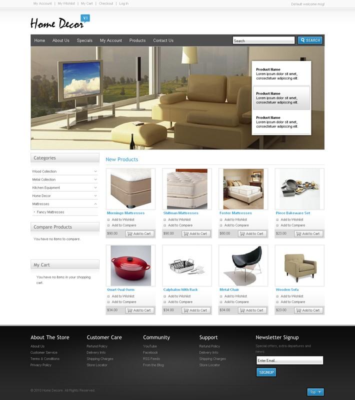 Decor Themes Wordpress Magento Themes For Home Decor