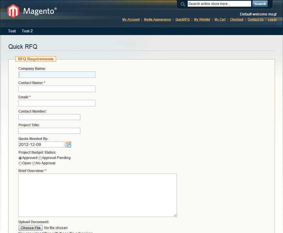 Quick RFQ Free Magento Module
