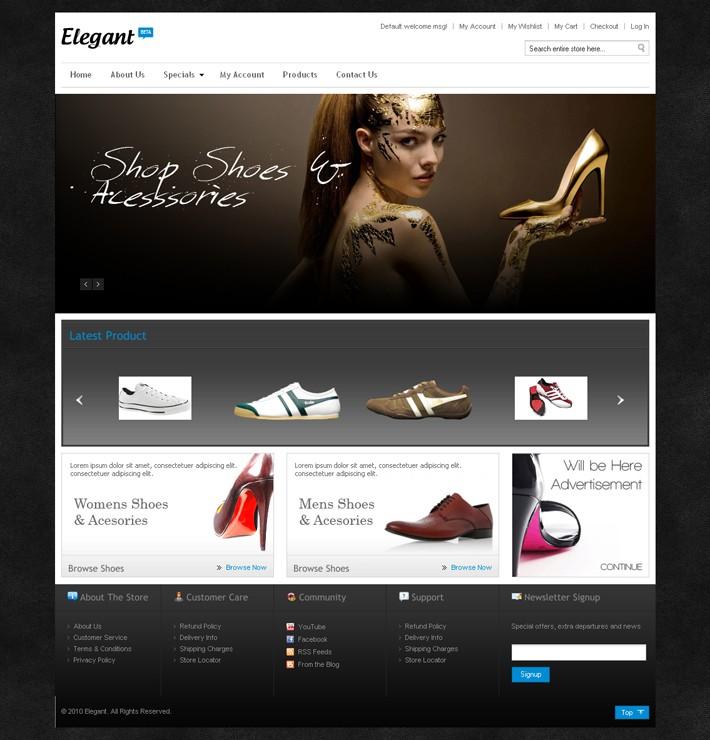 Magento Shoe Store Theme