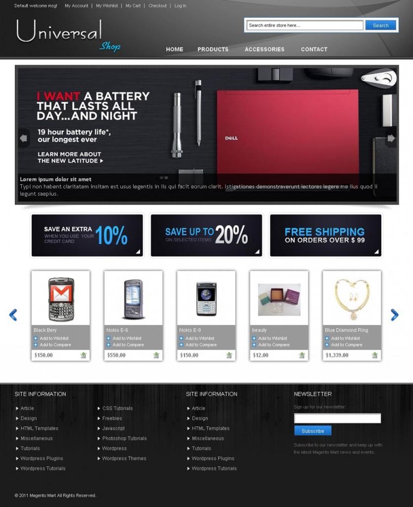 Magento Universal Store Theme