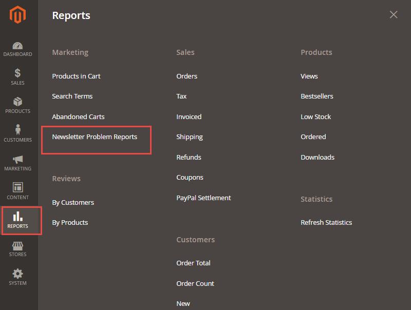 newsletter error reports