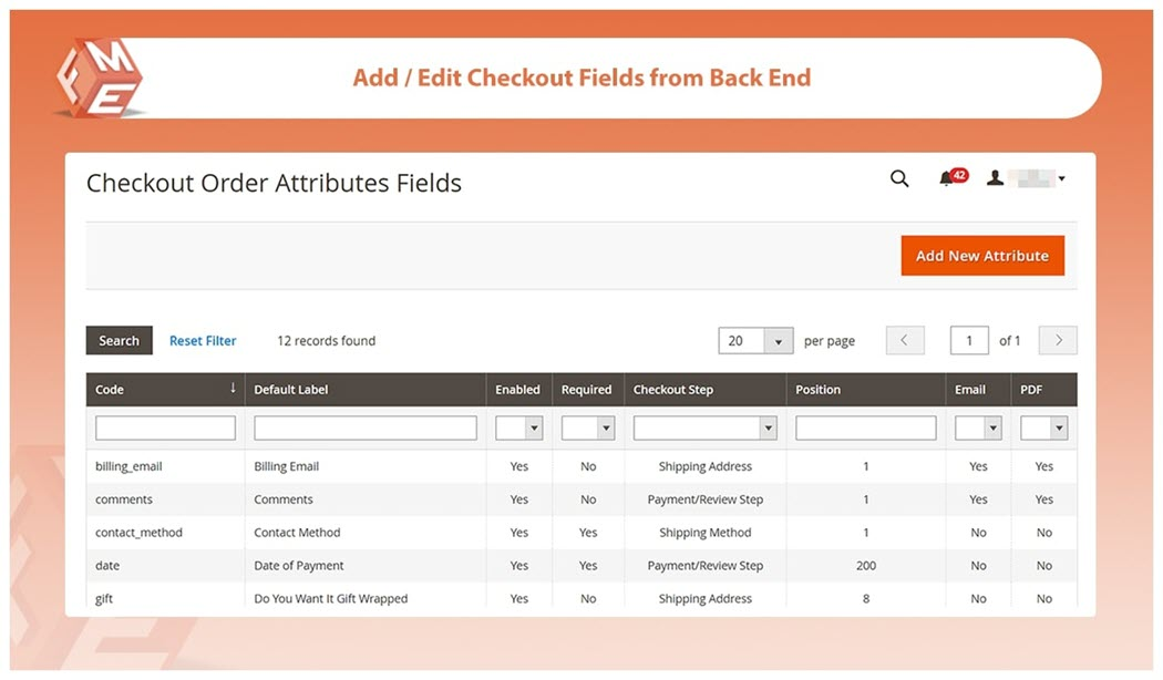 Magento 2 Custom Checkout Fields Extension - Add Field to Any Step